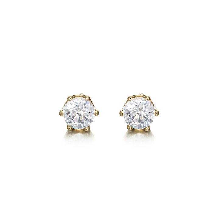 18ct Yellow Gold Layered Small Stud Earring | Allure Gold