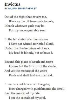 My favorite poem. I love this. It was part of the inspiration behind my tattoo.