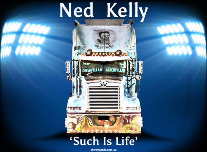 Ned Kelly Western Star montage show board photo print