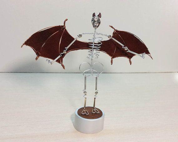Demon Skeleton, Lord of Darkness - Steampunk Wire mini sculpture