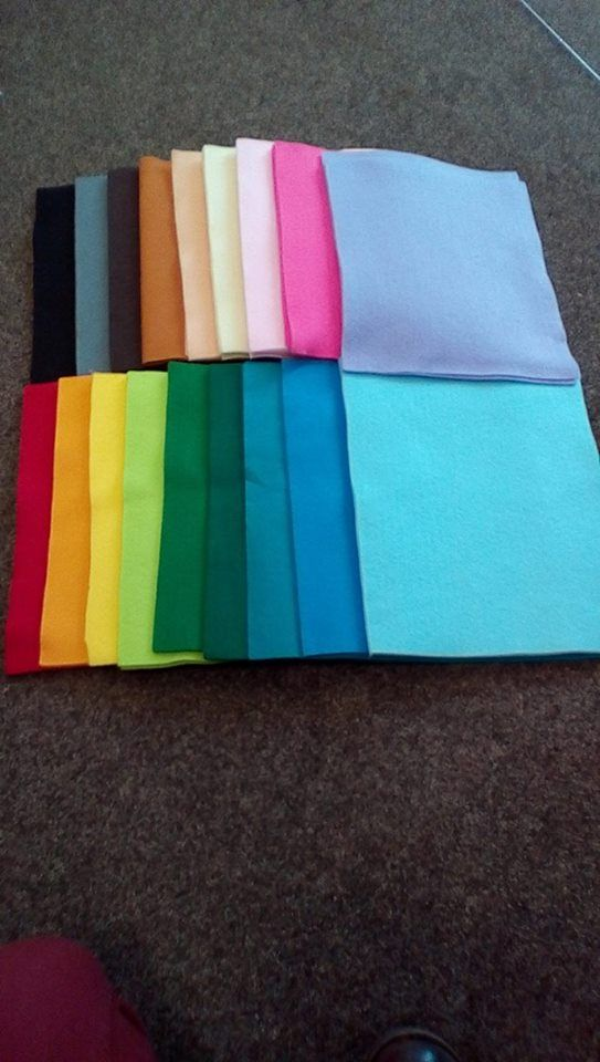craft felt - colours make me happy!