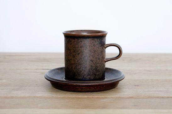 ARABIA (アラビア) /Ruska (ルスカ) コーヒーカップ&ソーサー - 北欧食器・北欧ヴィンテージ食器のオンラインショップ Riemiks (リーミクス)