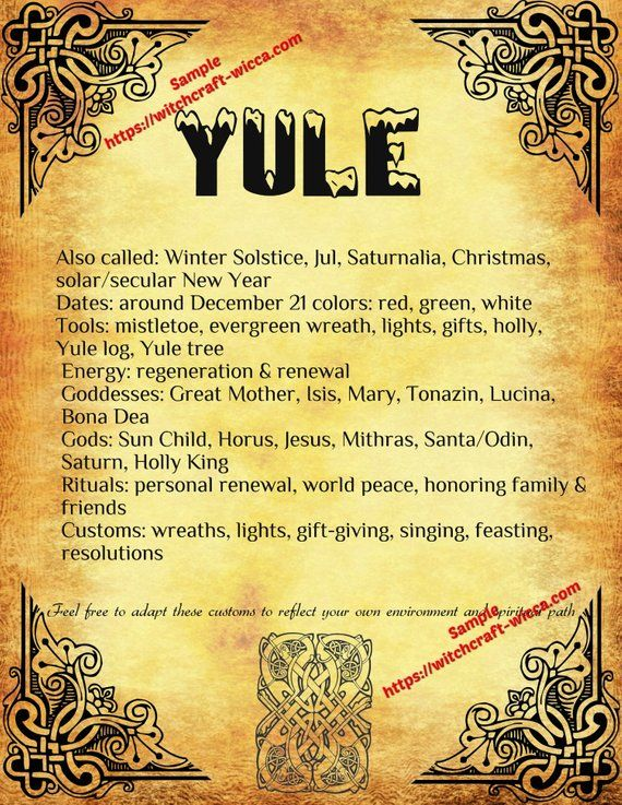 Yule Winter Solstice Pagan Holiday, Wiccan Weel of the Year in ...