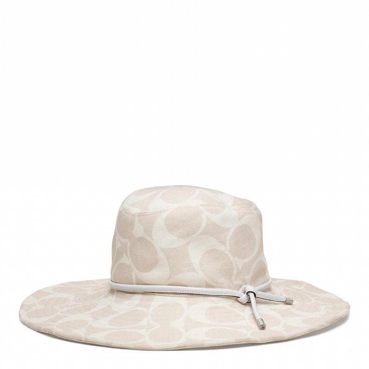 The Coach Signature Floppy Sun Hat