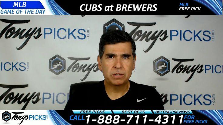 Chicago Cubs vs. Milwaukee Brewers Free MLB Baseball Picks Predictions J...