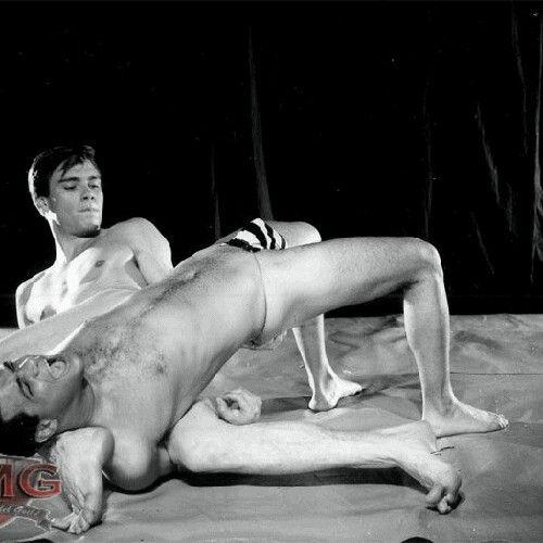 Vintage wrestling match