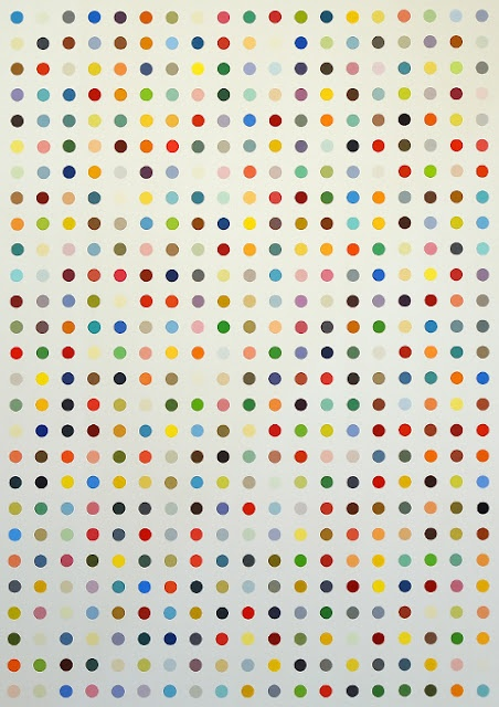 damien hirst...saw dots last summer...it's pretty amazing