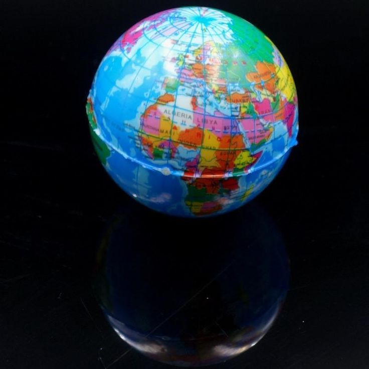 Art World Map, Brief Earth Globe Stress Relief Geography