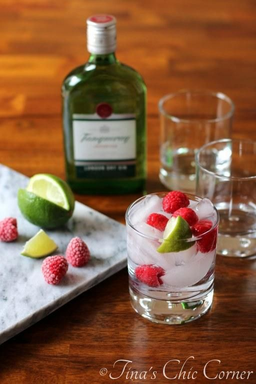 Gin and Tonic with Raspberry | Tina's Chic Corner