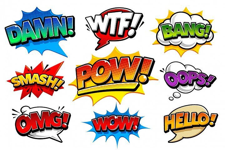 Comic Speech Bubbles Thor, Tatoo