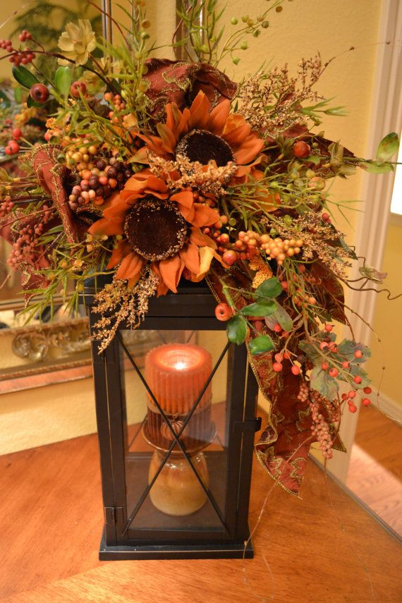 Fall Lantern Swag by kristenscreations on Etsy
