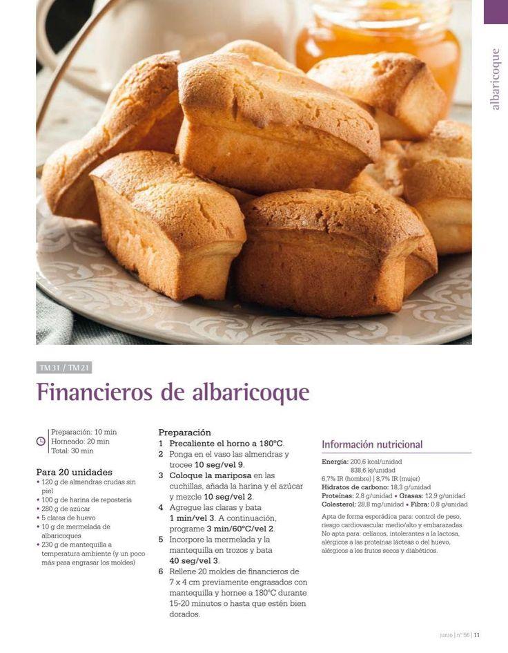 Financieros de mermelada de albaricoque