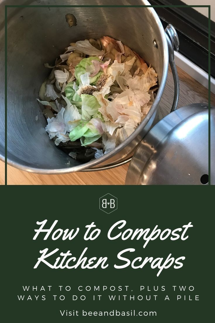 How To Compost Food Scraps Bee And Basil Composting Food Composting Food Scraps Compost