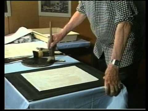 Norman Gryspeerdt demonstrates how to ink a Bromoil Print. Norman Gryspeerdt produced 4/6