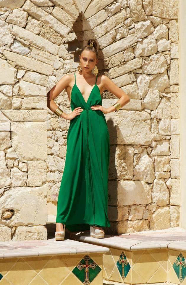 Evia dress green