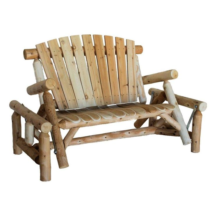 Shop Lakeland Mills 3-Seat Wood Rustic Glider at Lowes.com