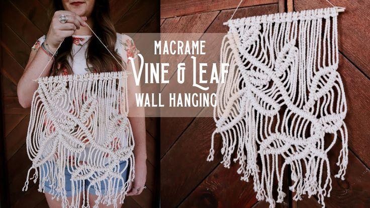 Macrame Leaves Wall Hanging Tutorial YouTube Macrame