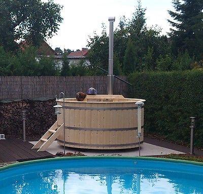 Badetonne Badezuber Badebottich Badewanne Hot Tub Sauna (BAUSATZ) DM 1,7 M