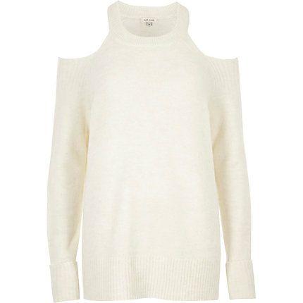 Cream knit cold shoulder jumper €45.00