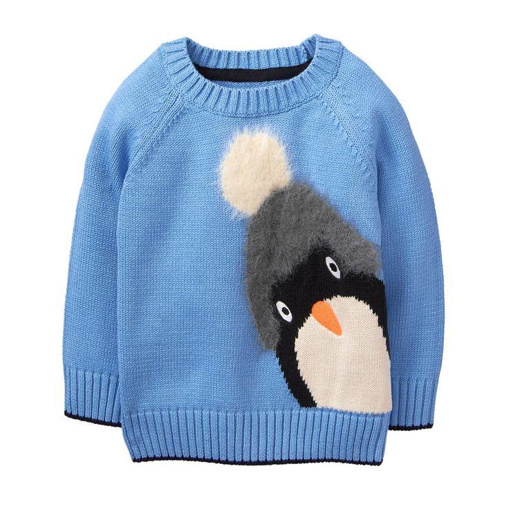 Toddler Boy Sky Blue Penguin Sweater by Gymboree