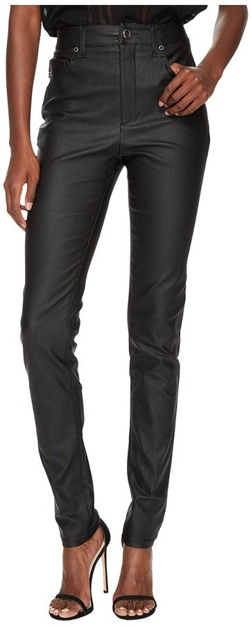 Versace Coated Skinny Pants Women's Casual Pants
