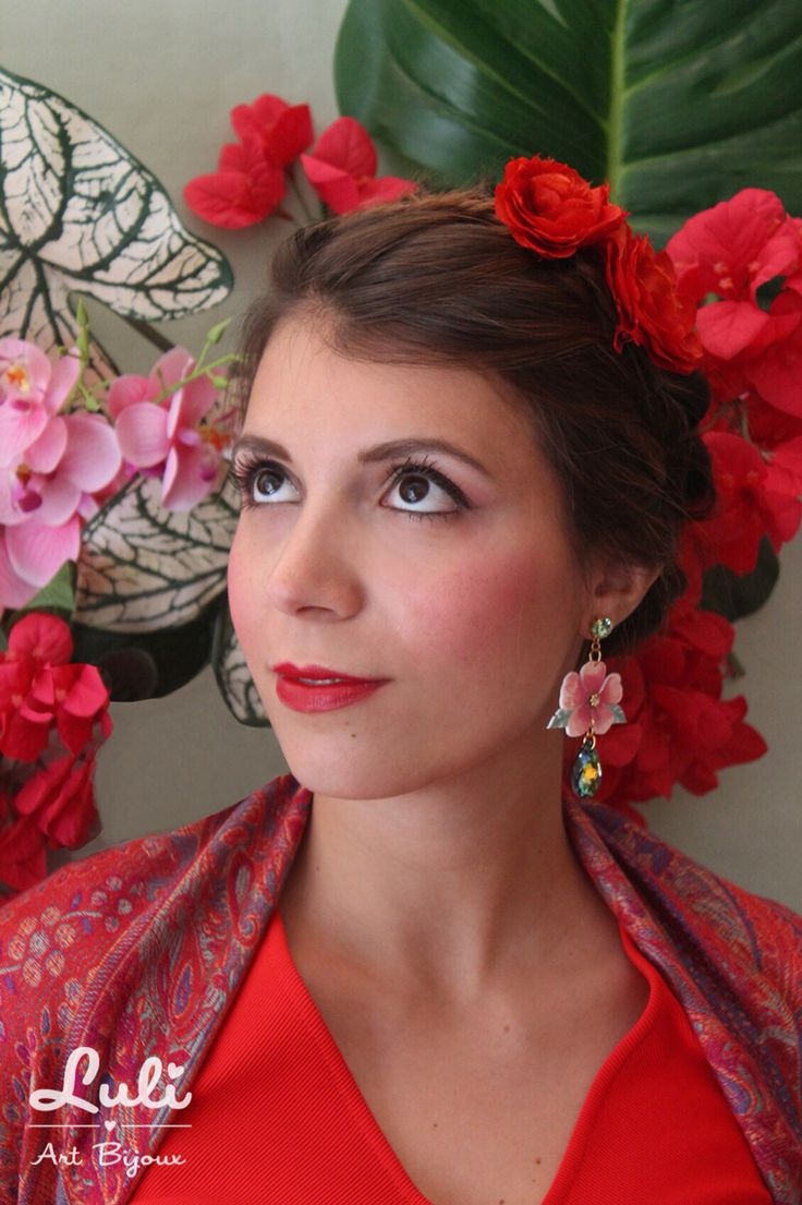 Surrounded by Flowers - FW14 TROPICANA - hibiscus earrings - #handmade #tropical #floral #jewelry