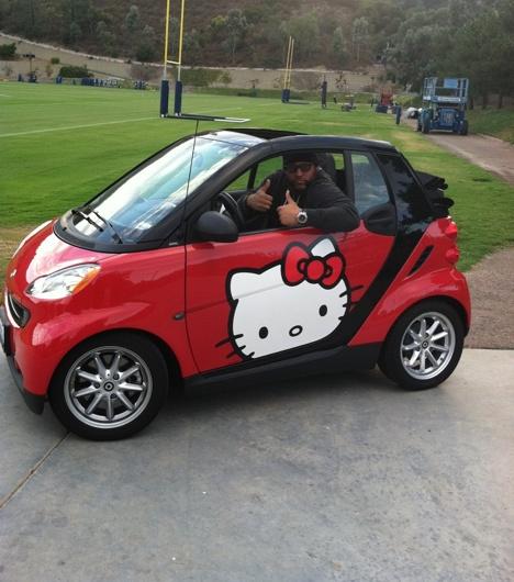 Better Yet.. I Like The Red Hello Kitty Smart Car Better