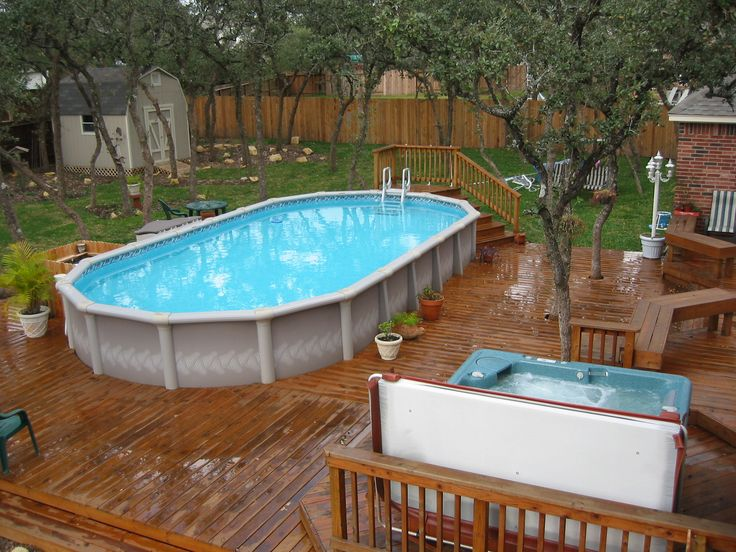 Spa Pool Ideas simple pool with spa and stepssundeck Find This Pin And More On Backyard Poolspa