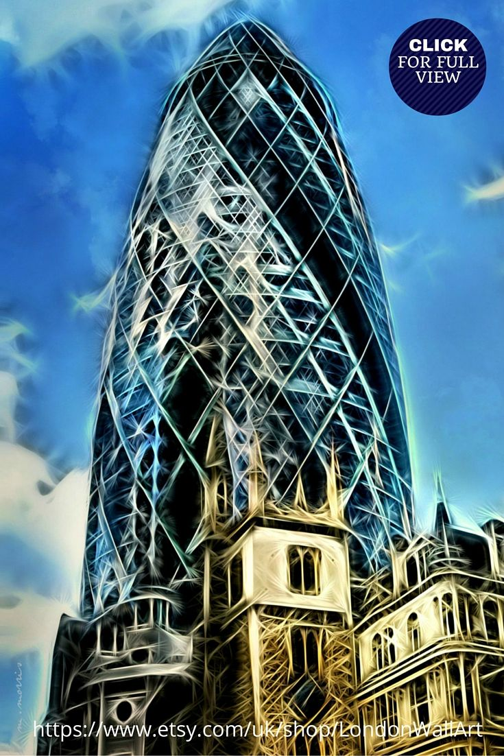 https://www.etsy.com/uk/shop/LondonWallArt?ref=hdr_shop_menu LONDON ARTWORK PRINTS FOR MODERN LONDON DECOR.  Striking London art featuring The Gherkin. This piece is bold and vibrant and would look stunning in home or office London decor. Made of 100% pure white cotton, a deep edged pine frame to give them a luxurious finish. Printed with highest quality inks, London artwork prints are life time fade resistant. AVAILABLE IN 3 SIZES.