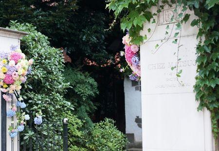 夏の装花 松濤レストラン様へ : 一会 ウエディングの花