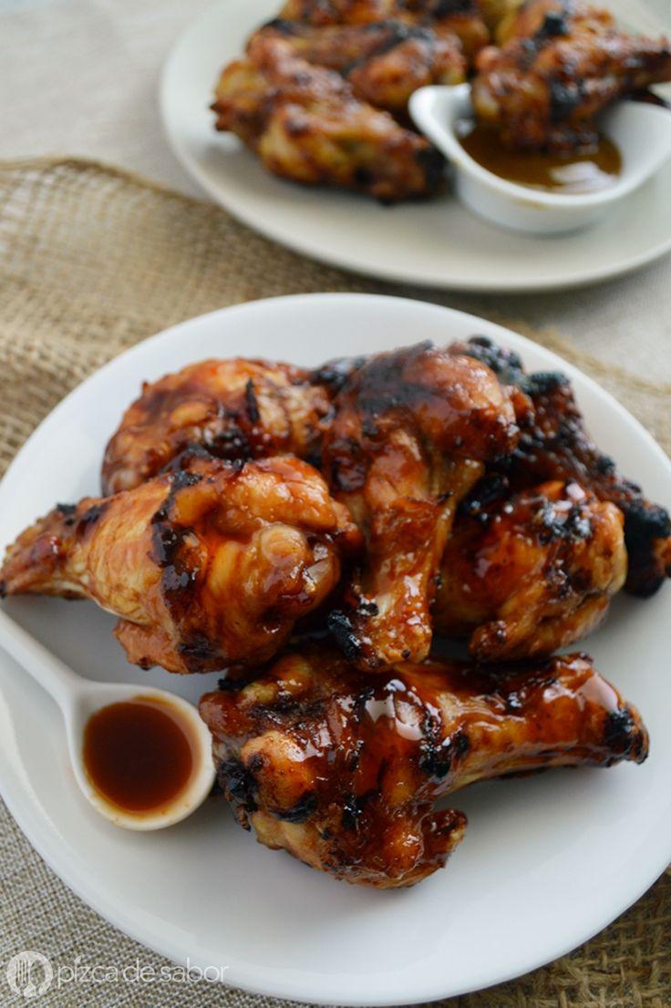 Alitas picantes agridulces (salsa casera con 3 ingredientes) www.pizcadesabor.com