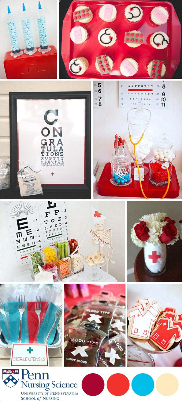 Nursing Major graduation party ideas! #EviteGatherings
