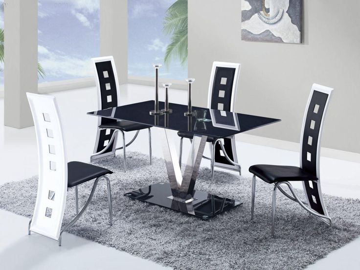 Contemporary Dining Room Furniture Sets best 25+ black glass dining table ideas on pinterest | glass top
