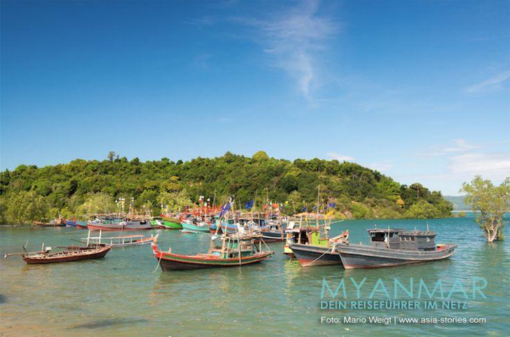 MYANMAR Reisetipps: STRÄNDE VON DAWEI   Hier bekommst du die besten Insidertipps für deine Reise zu den STRÄNDEN von DAWEI in Myanmar: Hotels, Gästehäuser, Kosten, Anreise, Karten, Maps, Restaurants, Eintrittspreise, Reiseberichte uvm. www.MyanmarBurmaBirma.com   Fischerboote in der Lagune hinter dem San Maria Beach