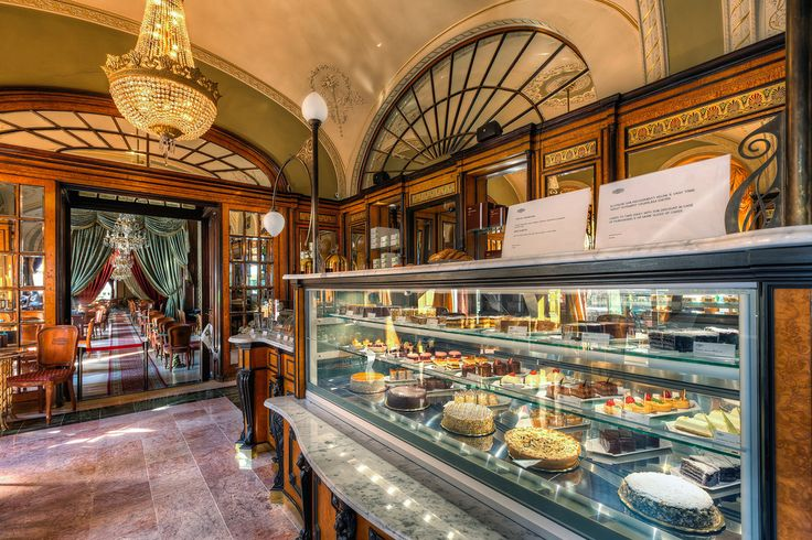 Gerbeaud Cukrászda (Café Gerbeaud) in Budapest, Hungary.  The best coffee (with a scoop of ice cream) ever!