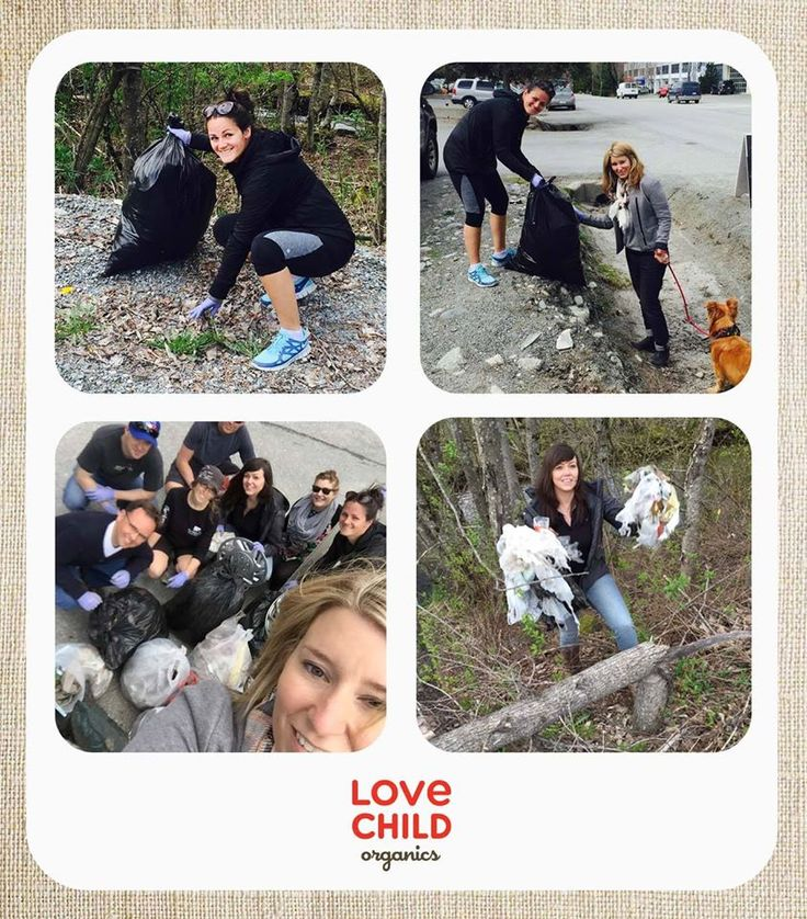 Happy Earth Day! The Love Child Organics team has honoured Earth Day by heading out around our local area and cleaning up the litter that has collected over the winter.