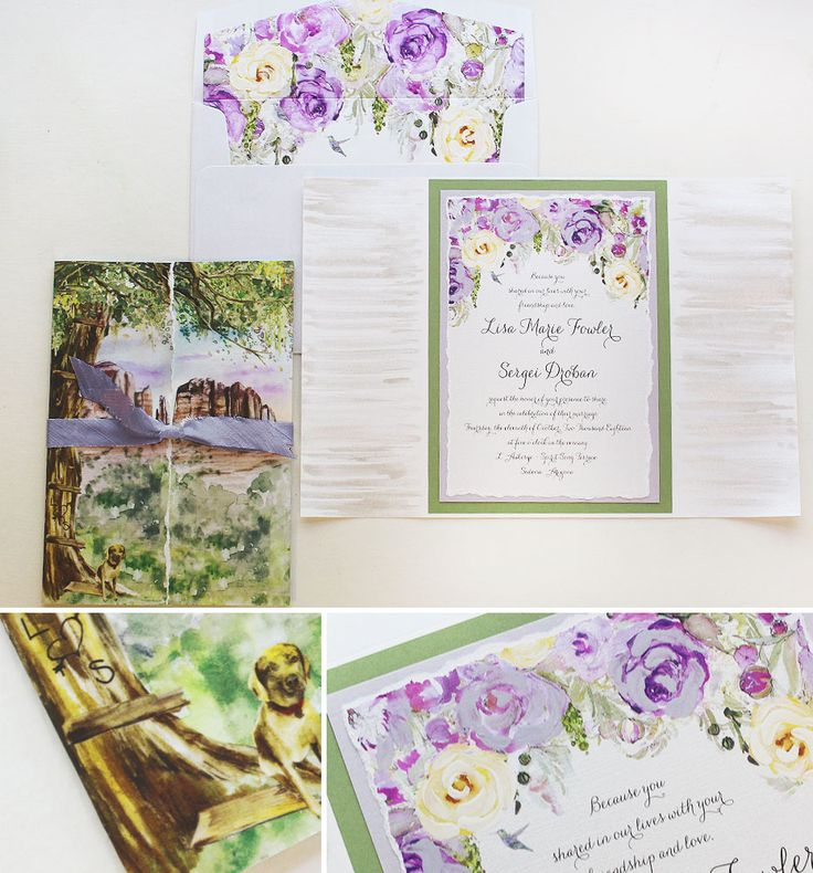 deer hunter wedding invitations%0A Sedona Arizona  with breathtaking scenic views  why not feature the red  rocks on an invite