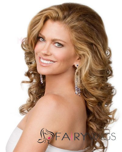 Super Smooth Best Lace Front Long Wavy Blonde Real Human Hair Wigs : fairywigs.com