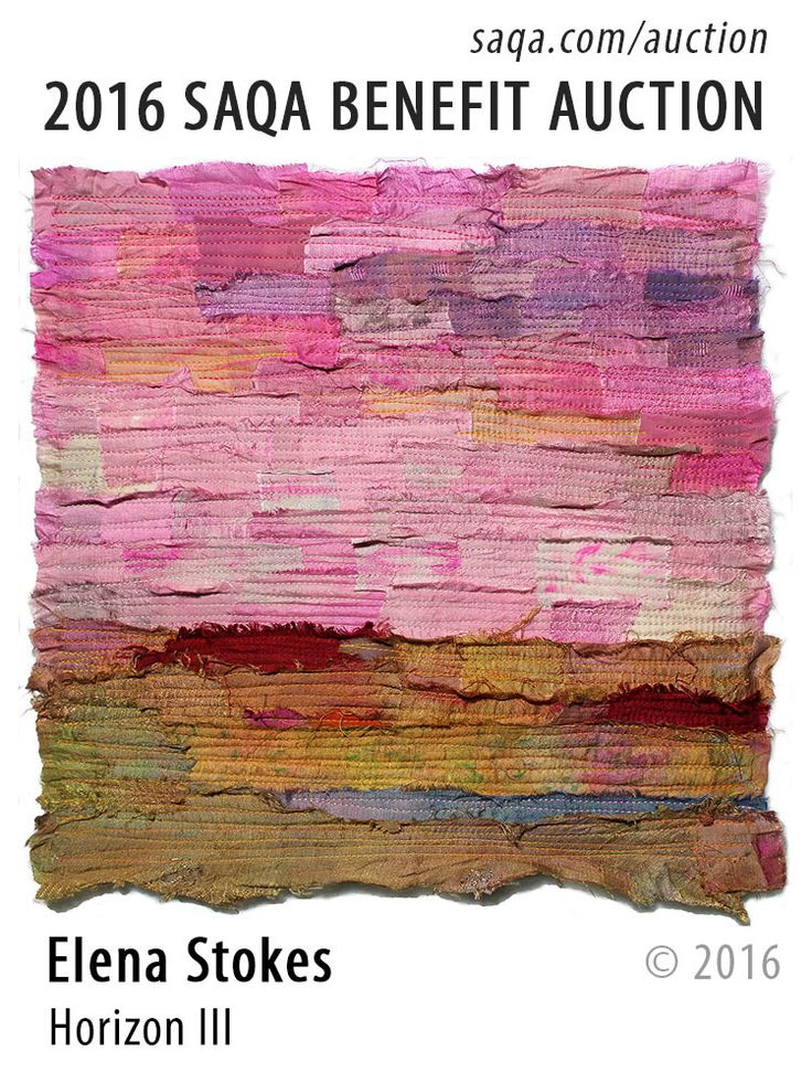 """Horizon III"" - art quilt by Elena Stokes"