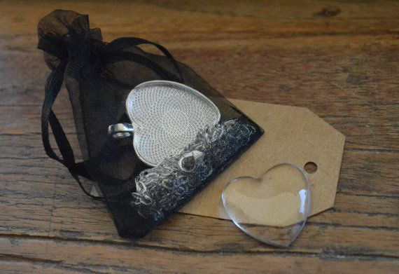 DIY Silver Heart Pendant Kit  Deluxe Party Kit. - Excellent idea for girls birthday parties!!