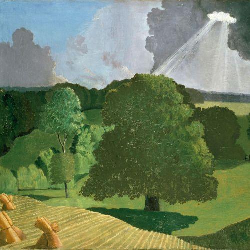 John Northcote Nash (English, 1893-1977)A Gloucestershire Landscape, 1914. Oil on canvas.