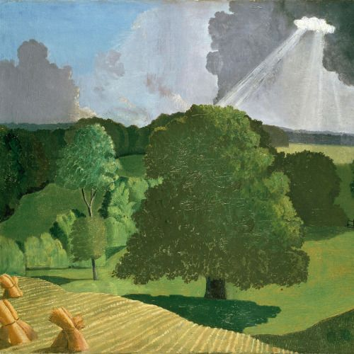 John Northcote Nash (English, 1893-1977)A Gloucestershire Landscape, 1914. Oil on canvas.