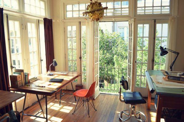 gorgeous open officeWriting Desks, Studios Spaces, Art Studios, Offices Spaces, Big Windows, Work Spaces, Work Room, Workspaces, Home Offices