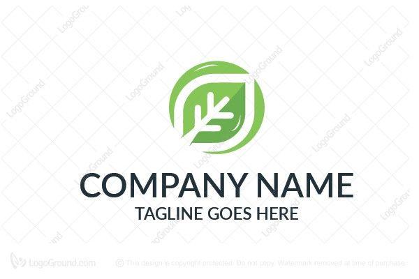 Logo for sale: Eco Leaf Logo