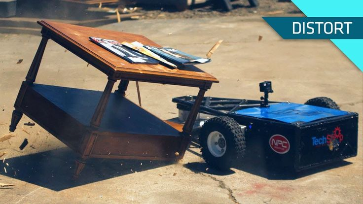 Combat Robot 'Last Rites' Destroys Lamps, Tables, and Bowling Balls in Super Slow Motion