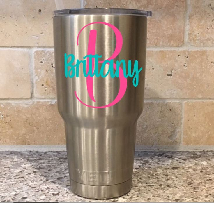 Yeti name decal, Yeti tumbler decal for women, Yeti decal, Name decal for Yeti, Yeti cup decal, Yeti personalized decal, Yeti name decal by PurplePeonyCo on Etsy