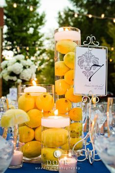 Great centerpiece idea.
