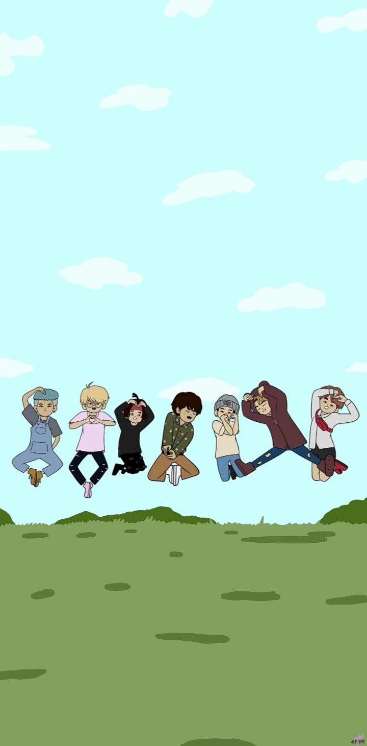 Bts Animated Wallpaper Bts Wallpaper Bts Wallpaper Lyrics Animation Bts cartoon tumblr wallpaper