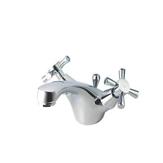 Swirl Quadra Mono Bathroom Basin Mixer Tap 28487 Chrome Plated Brass.  Suitable For High
