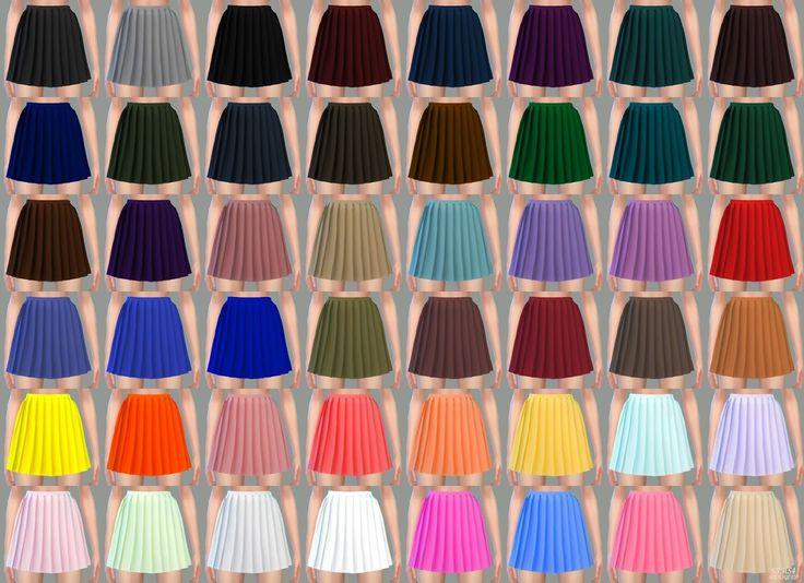 Thin Pleats Mini Skirt_얇은 플리츠 미니 스커트_여자 의상 - SIMS4 marigold